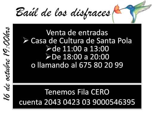 Información El baúl de los disfraces para ACEM Santa Pola