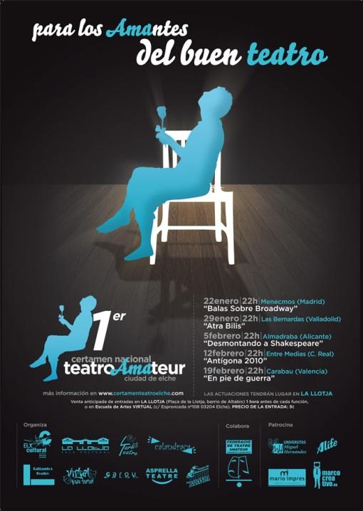Cartel de la 1ª Edición del Certamen de Teatro Amateur de Elche