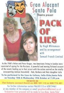 Cartel de la obra Pack of Lies para GASP