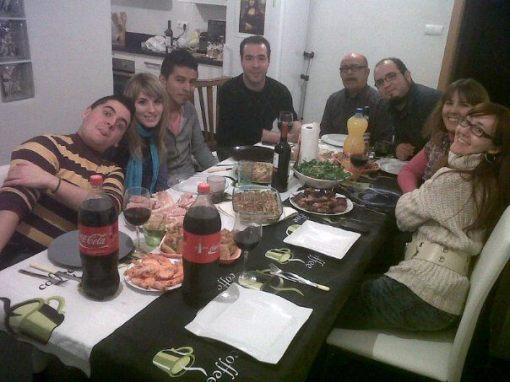 Foto de la cena de Navidad de Tardis Teatro