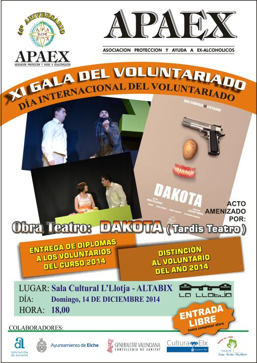 APAEX - cartel XI GALA VOLUNTARIADO